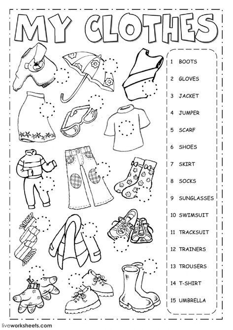 The Clothes English As A Second Language (esl) Worksheet  You Can