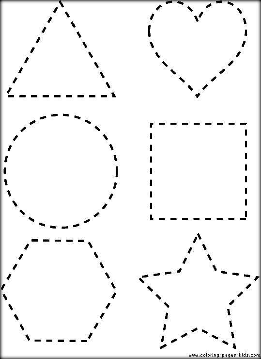 Dot To Dot Shapes Printable Sheets To Color