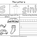 Phonics Worksheets Letter S