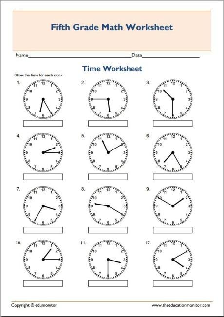 5 Grade Math Worksheets Math Worksheets For 5th Grade 5th Grade