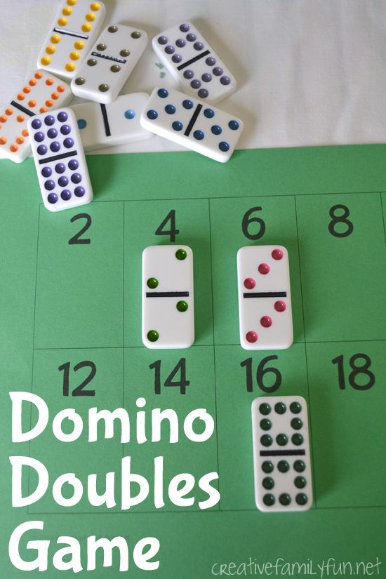 Domino Doubles Math Game