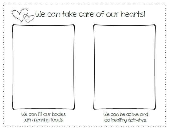 We Can Take Care Of Our Hearts!  Heart Health Month Activity