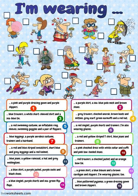 The Clothes Interactive And Downloadable Worksheet  You Can Do The
