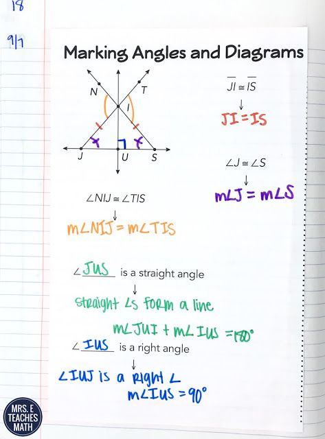 Angle Addition Postulate Inb Pages