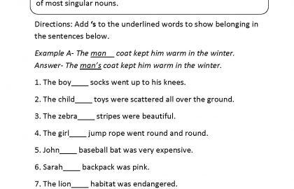 9th Grade English Grammar Worksheets Worksheet In English Grade 3