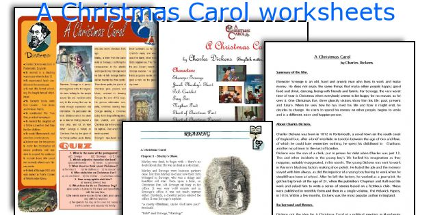A Christmas Carol Worksheets