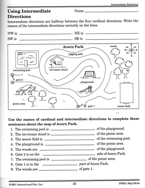 New Cardinal Directions Worksheets 1st Grade Homeshealth Info 2331