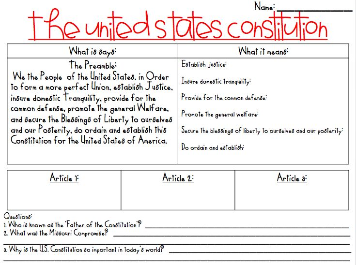 Printables  Constitution Day Worksheets  Lemonlilyfestival