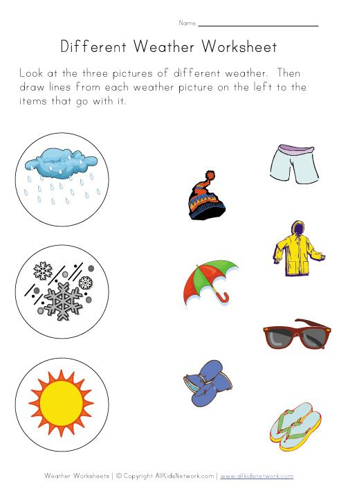 Weather Worksheets For Kids  God Way To Tie In What You Wear