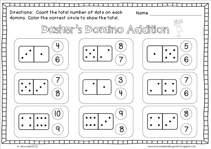 Christmas Math Worksheets For Preschool Math Coloring Pages