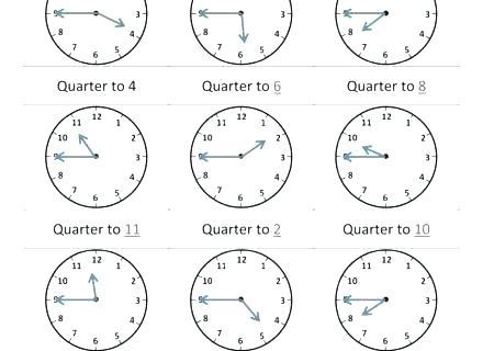Clock Practice Worksheets 2nd Grade Telling Worksheet Quarter Past