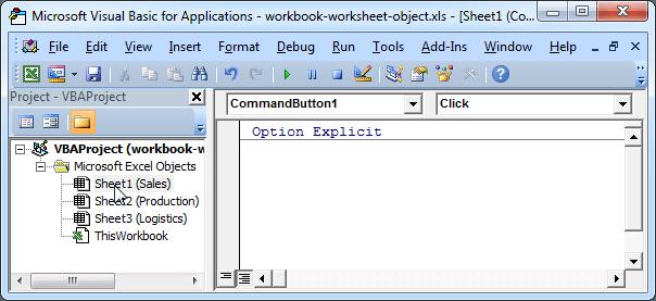Excel Vba Workbook And Worksheet Object