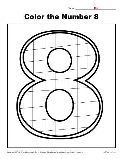 Color The Number 8