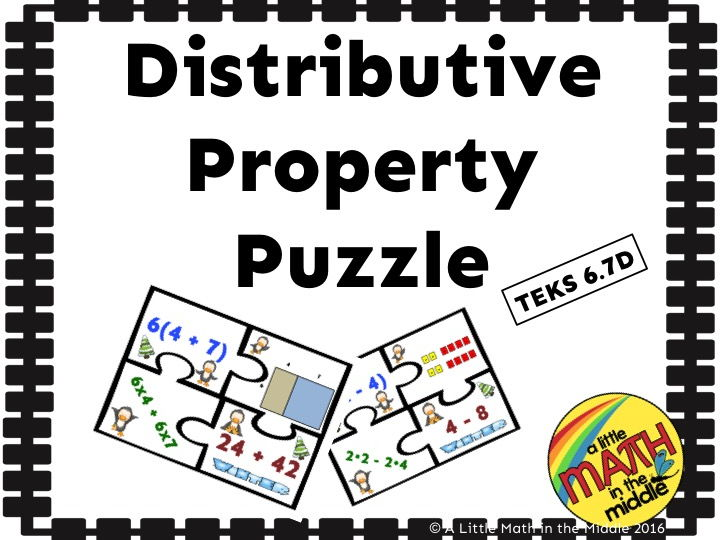 Distributive Property Puzzle Activity By Njlougheed