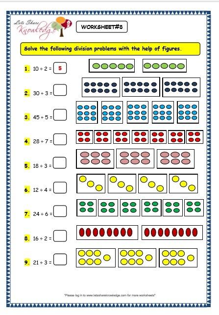 Division For 3rd Graders Worksheet Grade 3 Maths Worksheets