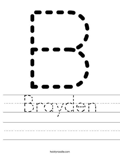 Tracing Letter Worksheets For Any Name