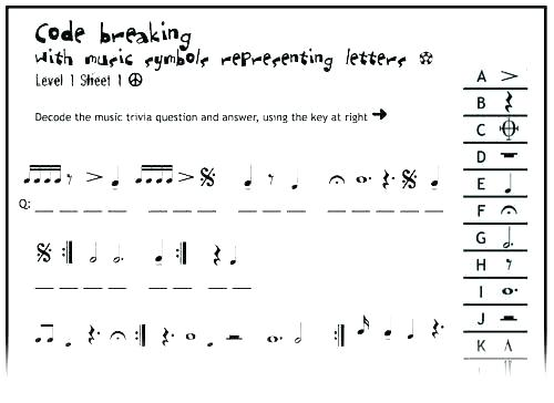 Easy Music Worksheets Math Winter Activities Printable Theory