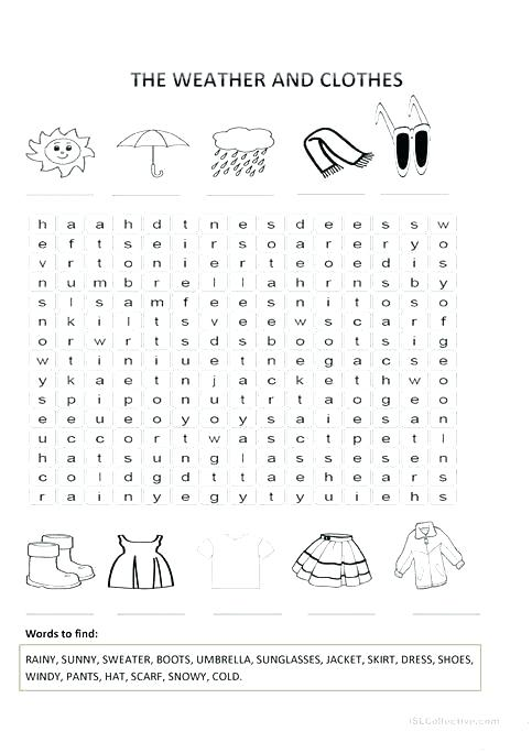 Esl Clothes Worksheets The Weather And Worksheet Free Printable