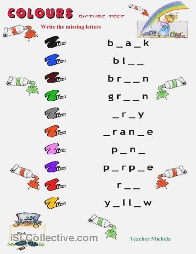 Esl Colors Worksheet – Dailypoll Co