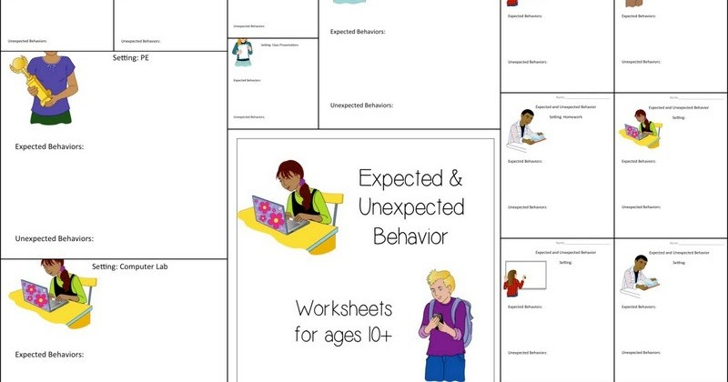 Headlinesandmore  Expected & Unexpected Behavior Worksheets