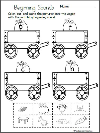 Free Fall Kindergarten Worksheets