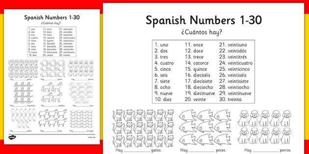 Spanish Numbers 1