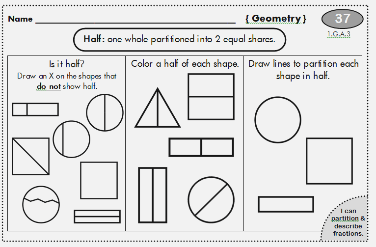First Grade Fractions – Dailypoll Co