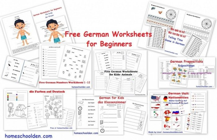 Free German Worksheets For Beginners