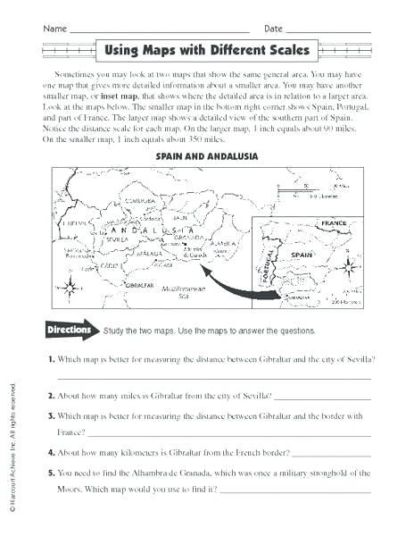 Free Map Skills Worksheets Geography Map Worksheets World