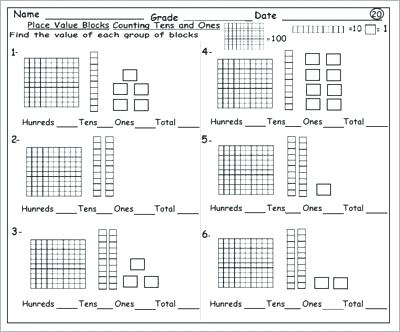 Free Place Value Worksheets 2nd Grade Worksheets Grade With Adding