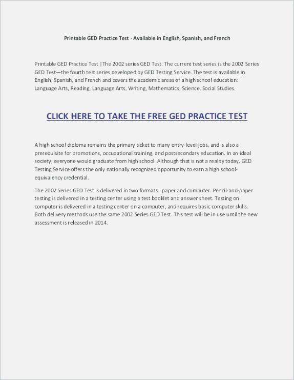 24 Inventive Printable Ged Practice Test With Answers Pdf