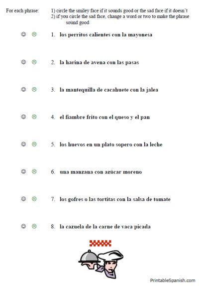Beginners Spanish Worksheets Printable