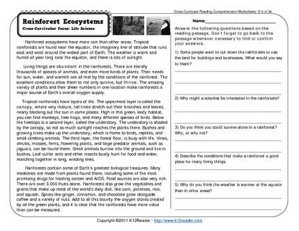 Printables  7th Grade Reading Comprehension Worksheets Free