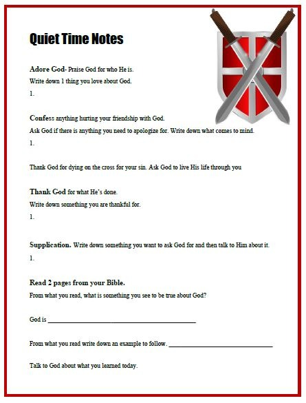 Printable Bible Study Worksheets – Printable Bible Study Lessons