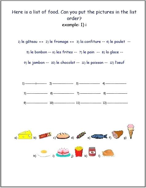 French Worksheets French Worksheets Printable French Worksheets