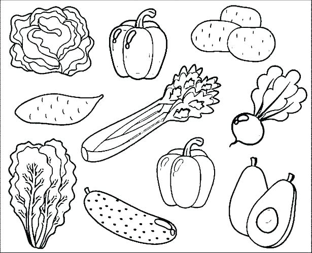 Fruit For Coloring Vegetables Pages Of Fruits And Vegetable