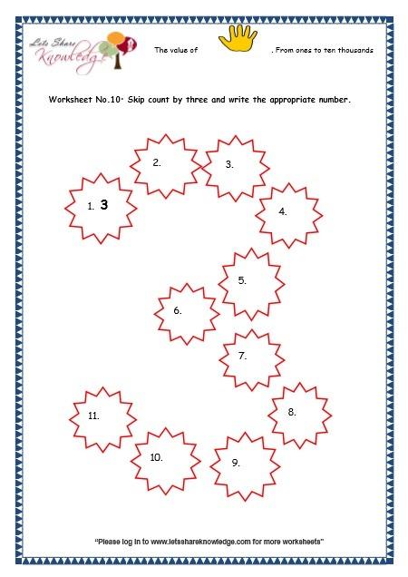 Grade 3 Maths Worksheets 5 Digit Numbers (2 9 Skip Counting