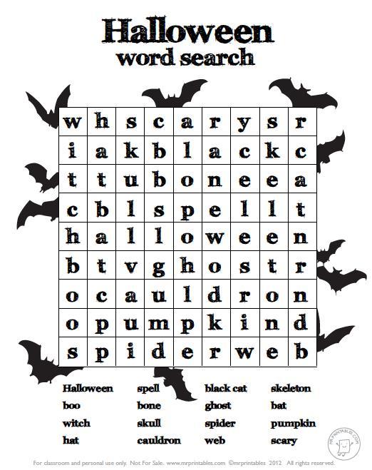 Halloween Worksheets For Kids Printables – Halloween & Holidays Wizard
