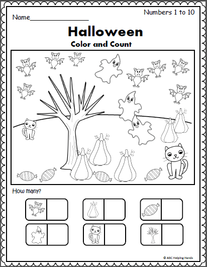 Halloween Counting Worksheet (1 To 10)