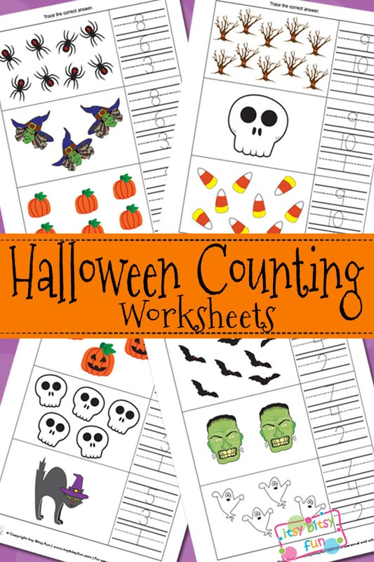 Halloween Counting Worksheets