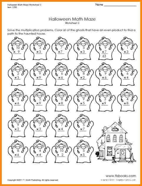 Halloween Math Worksheets Middle School