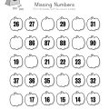 Complete The Missing Numbers Worksheets