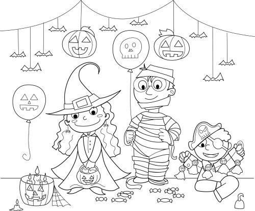 Halloween Worksheets For Kids 13 Coloring For Kindergarten
