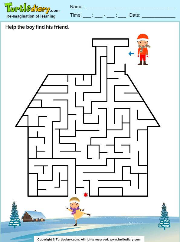 House Maze Worksheet