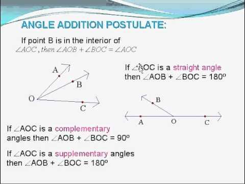 Geo 1 4 Segment And Angle Addition Postulates