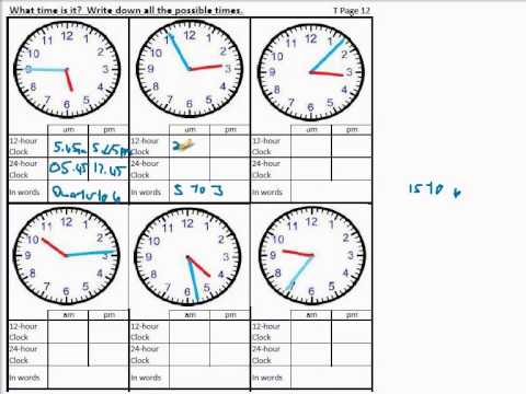 Time Worksheets For Calculating Time Difference, Reading Time, 24