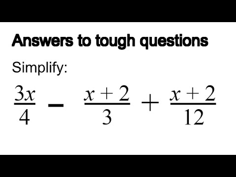 How To Simplify An Algebra Fraction