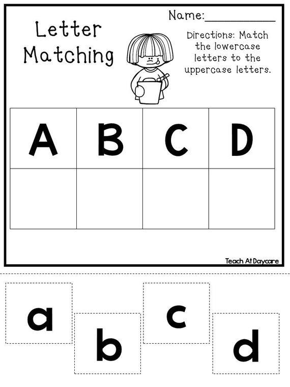 21 Printable Alphabet Matching Worksheets  Preschool