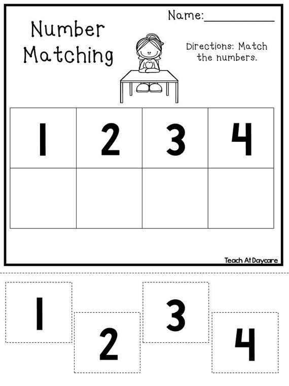 18 Printable Number Matching Worksheets