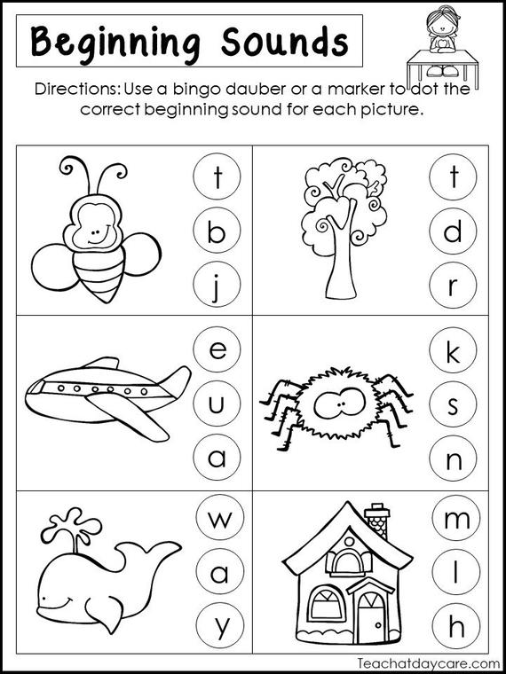 10 Printable Beginning Sounds Worksheets  Preschool